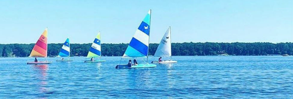 white lake sailboats